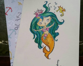 You Mermaid For Me Anniversary Card