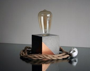 Concrete Lamp, Concrete desk lamp, Edison lamp, Modern lamp, Industrial retro lamp, Table lamp, Concrete desk lamp