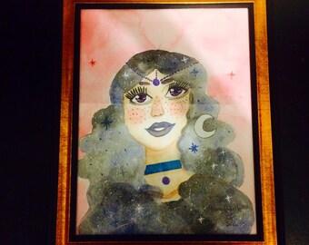 Starry Night Gypsy Girl-Original