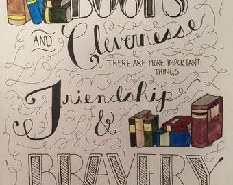 """Hermione: """"Books and Cleverness"""""""