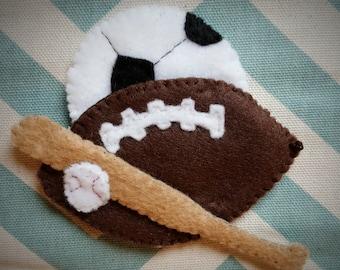 Hand sewn felt sports applique