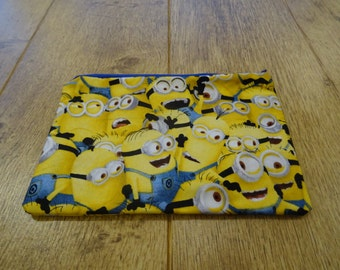 Minion Pencil case or Makeup bag