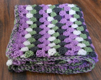 Into the Woods Granny Square Crochet Stroller Blanket