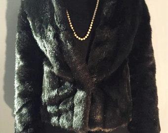 Vintage faux fur jacket size 10-12