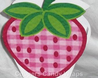 Strawberry Mini Treat Box ~ Gift Tote ~ Party Favor