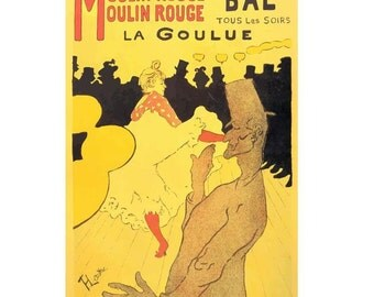 Moulin Rouge Vintage Canvas Poster Giclee Art Print Gallery Wrapped