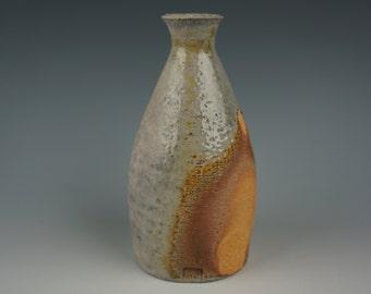 Tokkuri - Bottle - Anagama Wood Fired - Raw Ash Glaze