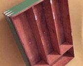 Vintage wooden utensil tray