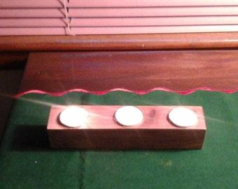 cedar tea light holder