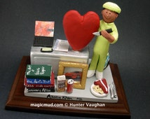 Cardiologist's Custom Made Figurine, Personalized Heart Doctor's Gift - Heart Surgeon's Gift Figurine -Cardiologist Graduation Gift Figurine