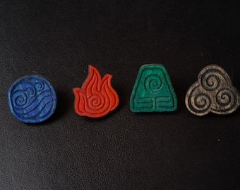 Avatar: the last airbender (The Legend of Aang)- element bending symbol pin badges