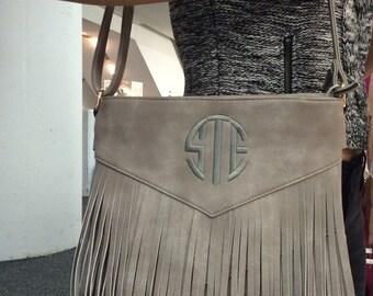 Monogrammed fringe crossbody  bag is amazing!