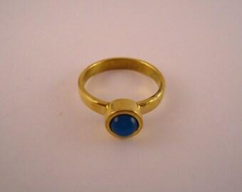 brass ring- sky blue