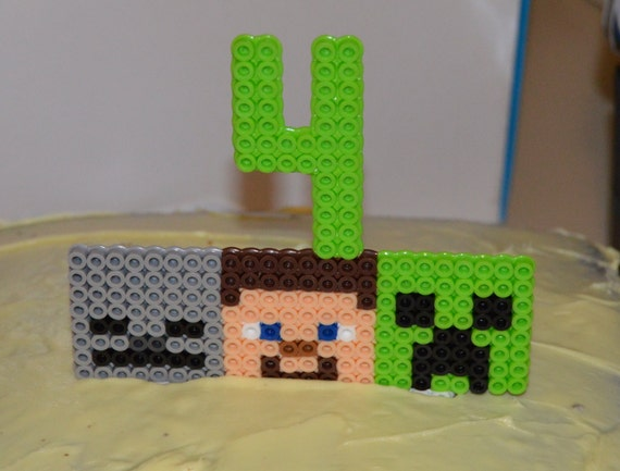Cake Toppers Minecraft Uk : Minecraft cake topper