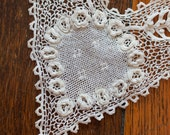 Irish Crochet Lace Collar with Epaulets, Antique Handmade Lace, Excellent condition