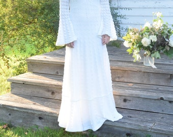 Vintage Crochet Wedding Gown