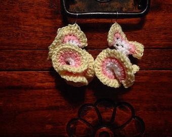 Hyperbolic Coral Earrings