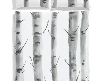 Birch cotton sateen bedding