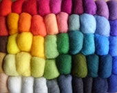 Carded Wool, 55 Color Set, 275 g, 9.7 oz, Felting Kit for Creative Crafts, 27 - 30 mic, New Zealand, Latvian