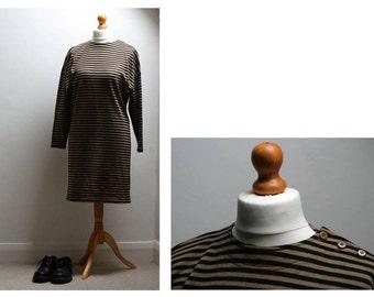 Long Dress grey/black