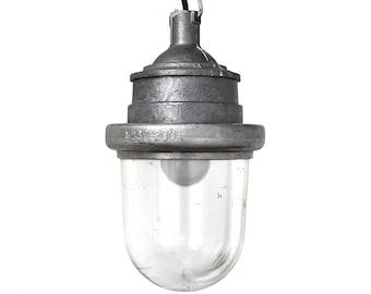 Vintage silver industrial lamp