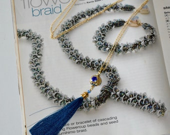 Blue Tassel Chain
