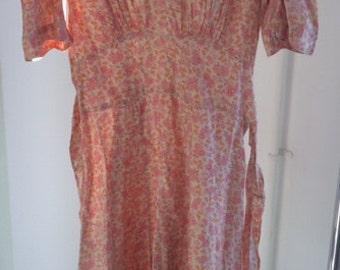 30's floral tea dress