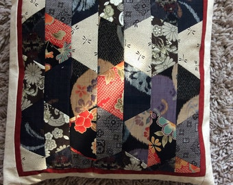 Oriental fabric patchwork Cushion Cover
