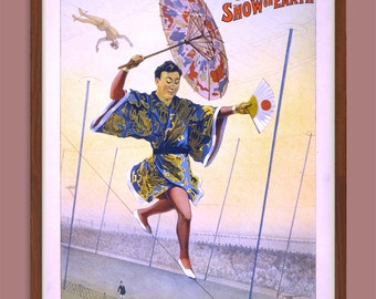 """Instant Downloadable Vintage Poster """"The Barnum & Bailey Greatest Show on Earth"""" from 1898"""