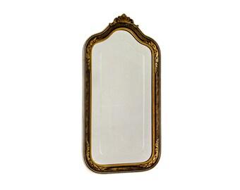 Antique Wood Gilt Gesso Framed Etched Mirror