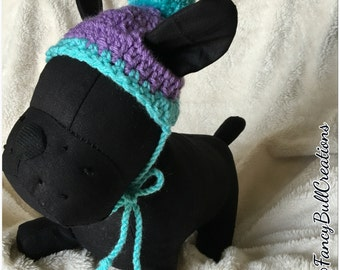 "Disney Inspired Monster Inc ""Boo"" French Bulldog Puppy Beanie Doggy Dog Puppy Fashion photo prop Small Toy Breed"