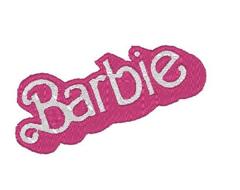 Barbie logo design- embroidery file- digital download