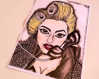 Lady Gaga Telephone wall art print