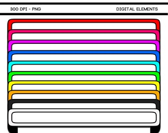 Printable Digital Scrapbook Banner Elements 104A