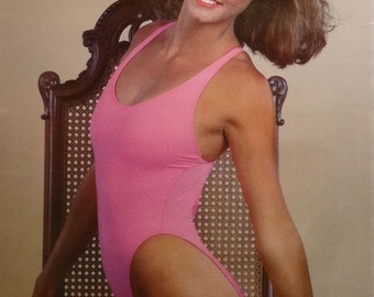 Lisa Borges 27x39 80's Pin Up Girl Poster 1985
