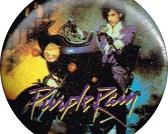 Prince Purple Rain Cover Art 1984 Vintage Button Pin