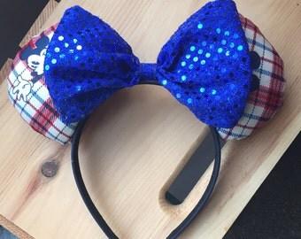 Retro Plaid Mickey Ears