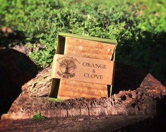 Orange & Clove Bar Soap - goats milk soap