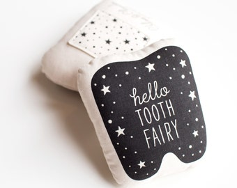 Organic Cotton Tooth Fairy Pillow (glow-in-the-dark)
