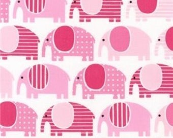 Elephants Pink by Ann Kelle Urban Zoologie collection from Robert Kaufmann Ref AAK-13956-10