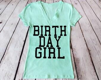 Birthday Girl with zodiac sign