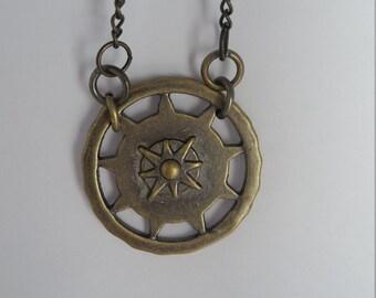 Compass necklace - brass