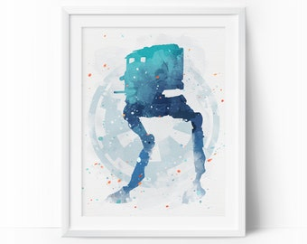 AT-ST Walker, At-St, Walker, Star Wars At-St, Imperial Walker, At-St Watercolor, Nursery Decor, Kids Printable Wall Art, Instant Download