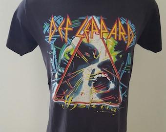 Def Leppard t-shirt hysteria tour 1987 1988