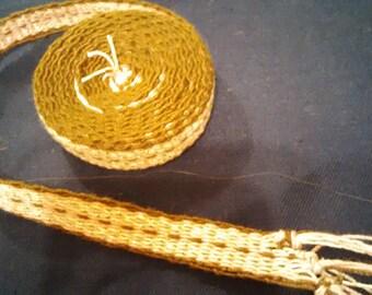 Inkle woven trim or belt