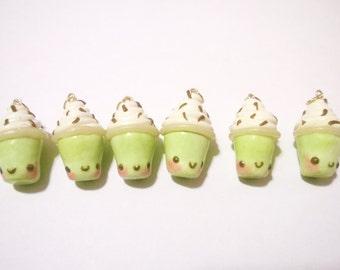 Cute Matcha Green Tea Frappuchino Clay Charm