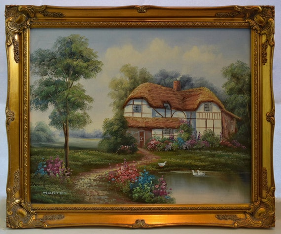 Beautiful Vintage Original Painting By Marten Oil On Canvas