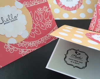 Paisley Greetings, Mix and Match Set of 4