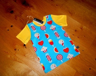 Age 4 Tee sewn with soft cotton Jersey in this fun summery design.