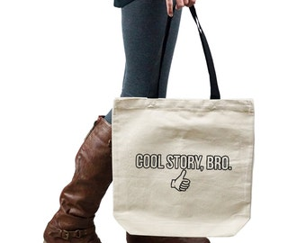 Funny Thumbs Up Cool Story Bro Tote Handbag Shoulder Bag Purse SP-00064